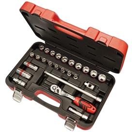 faithfull-3-8-inch-sq-drive-socket-set-25-pce-ref-faisoc3825m