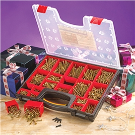 forgefix-1500-piece-mixed-screw-assortment-with-5-free-screwdriver-bits-ref-xms15forge