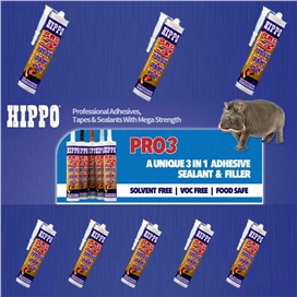 hippo-pro-3-all-weather-sealant-adhesive-filler-grey-290ml-ref-h18514