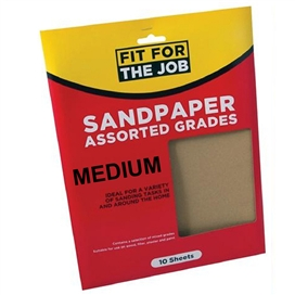 pre-packed-sandpaper-10-sheets-of-medium-ref-ffjasp10m