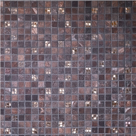 saran-brown-mosaic-30x30-with-a-2-5x2-5-tacco-tile-30x30cm