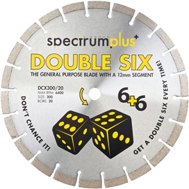spectrum-double-six-diamond-blade-300mm-general-purpose-ref-ds12-300-20