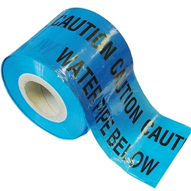 underground-water-warning-tape-365mtrs-x-150mm-blue-ref-faitapeuwat