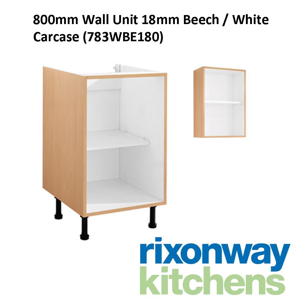 Beech Kitchen Wall Units