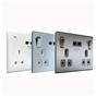 brushed-steel-grey-insert-double-switched-socket-with-usb-charger-2-1a-usb-output-fits-25mm-box-ref-nbs22ug-01-3
