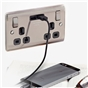 brushed-steel-grey-insert-double-switched-socket-with-usb-charger-2-1a-usb-output-fits-25mm-box-ref-nbs22ug-01