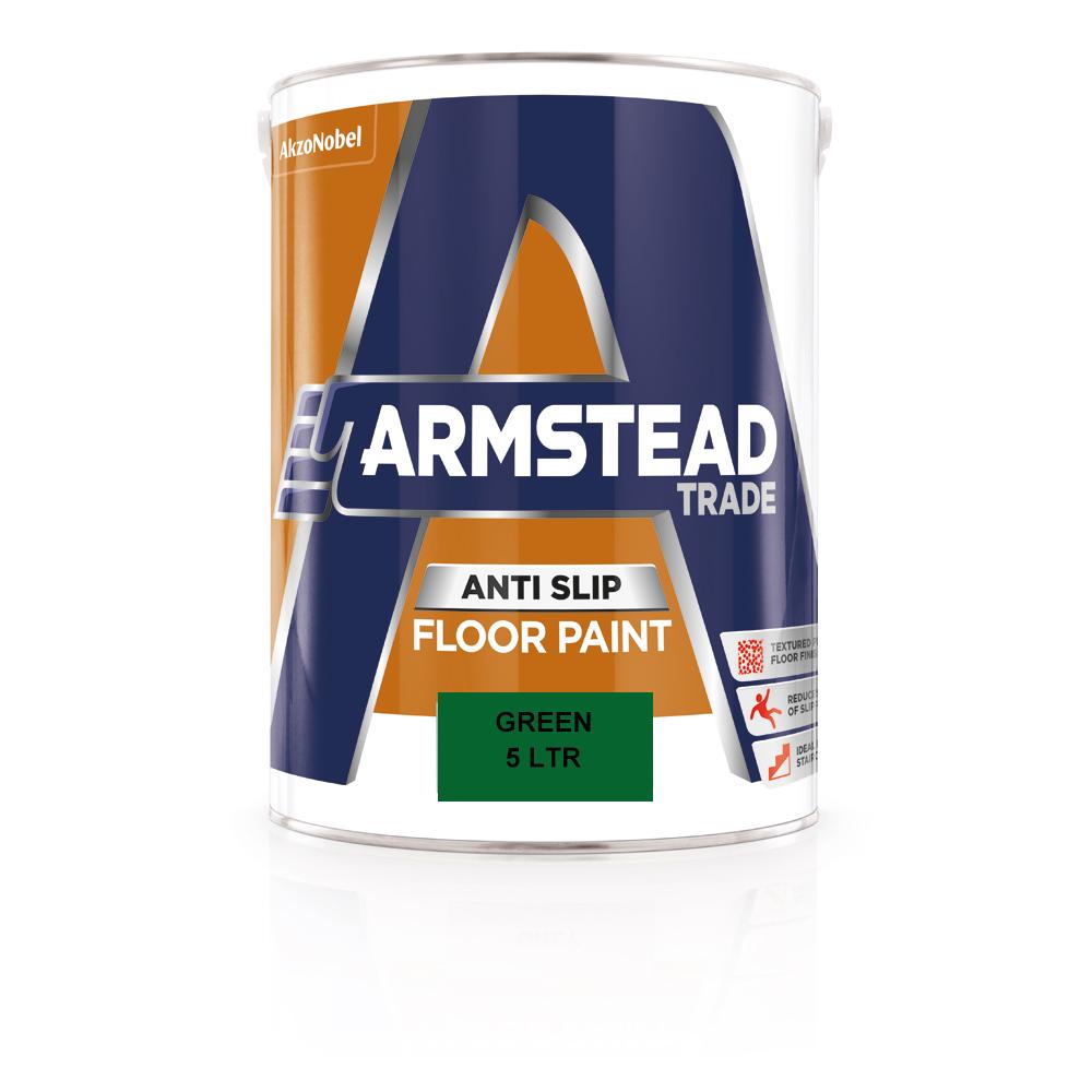 Armstead Trade Floor Paint Green 5ltr Ref 5218609