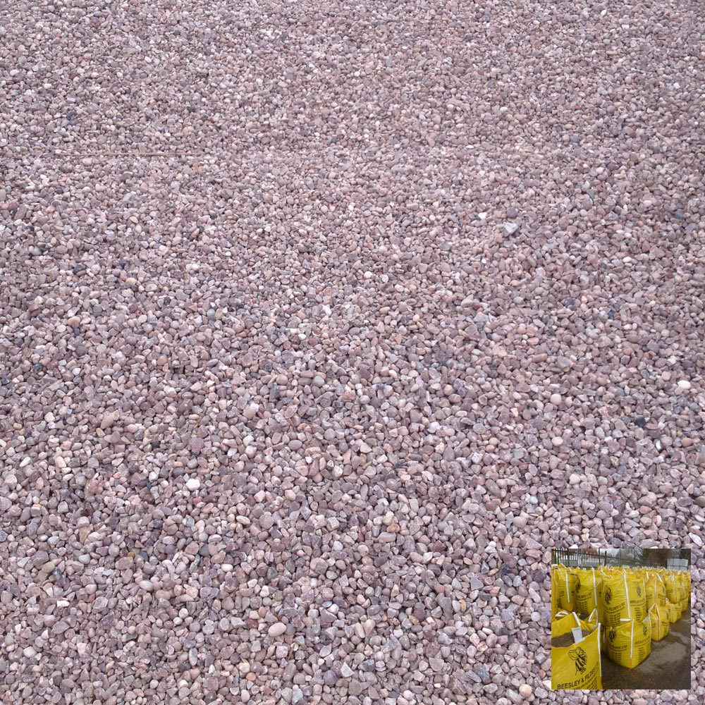 staffordshire pink gravel 20mm bulk bag. Black Bedroom Furniture Sets. Home Design Ideas