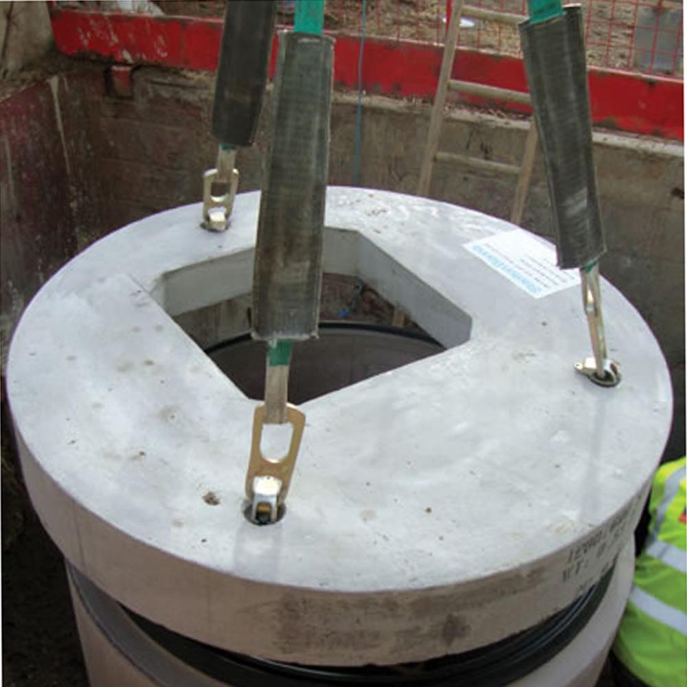 Concrete Manhole Cover Slab 1050mm Dia C W 600 X 600mm Sq