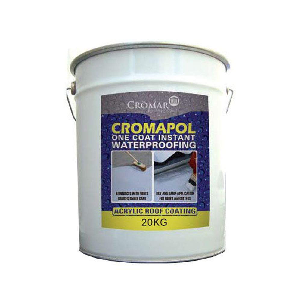 Gray Roof Paint: Cromapol Acrylic Roof Coating Grey 20kg