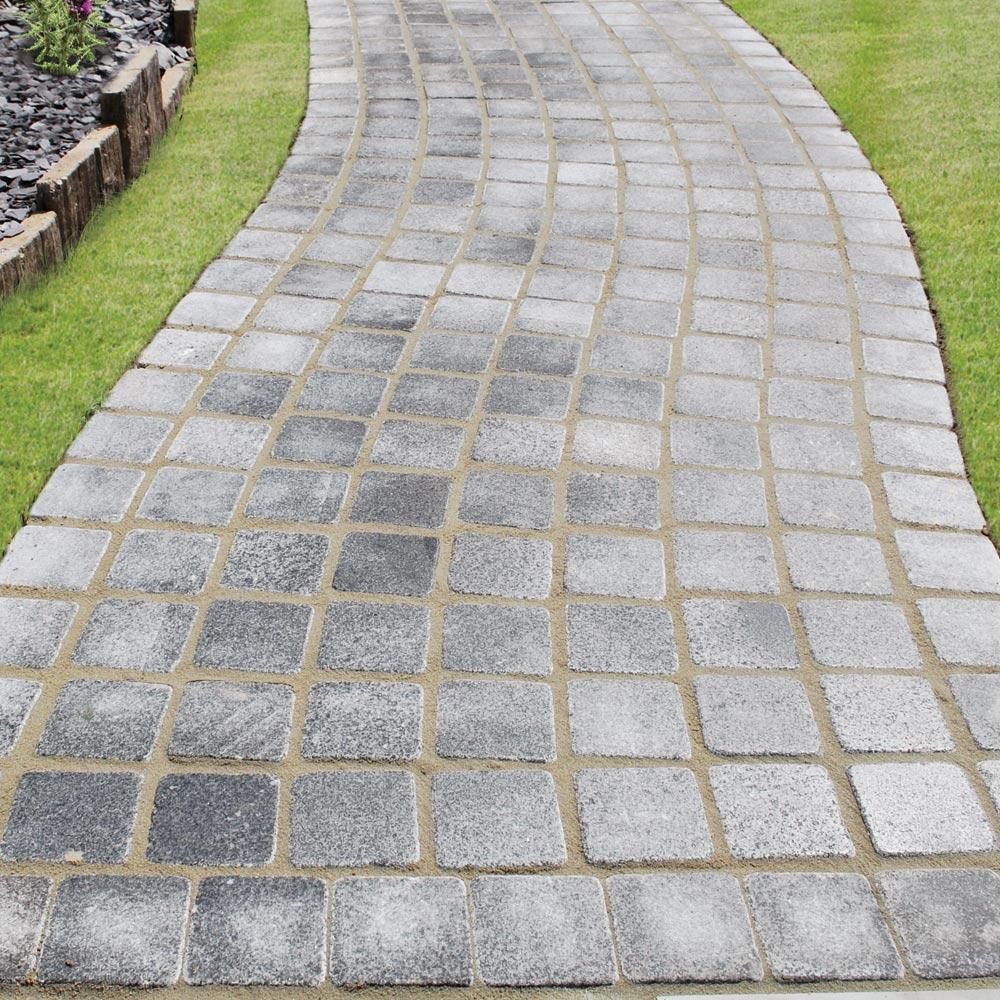 Granite Tumbled Setts 100x100mmx25mm Dusk Smooth