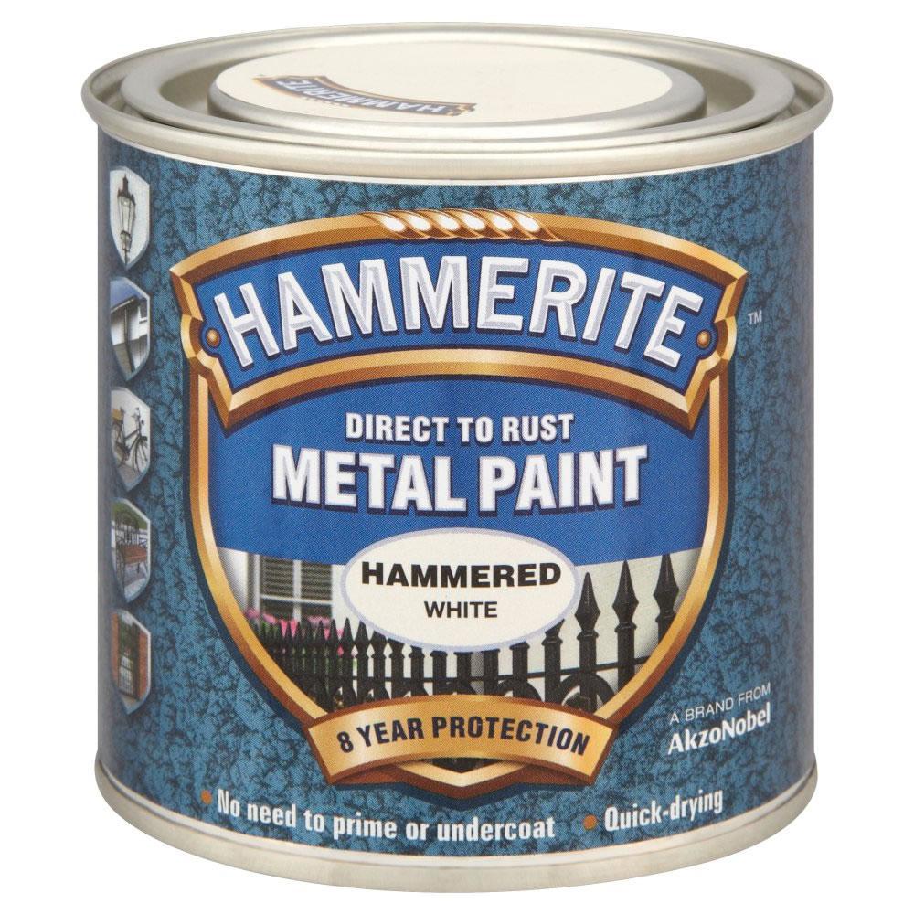 Hammerite Hammered White 1Lt Ref 6724203