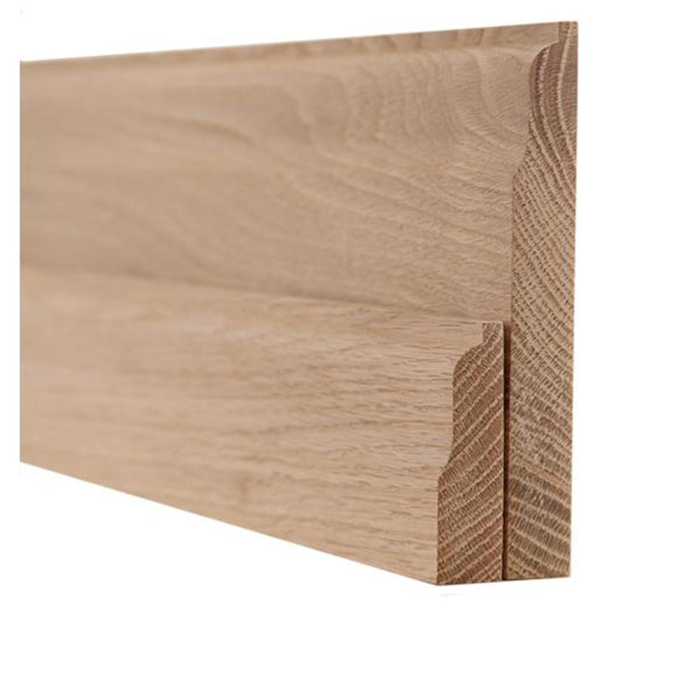 Hardwood 25x150mm torus lambs tongue skirting for Hardwood skirting