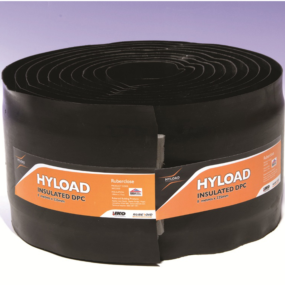 Hyload Insulated Dpc 225mm X 8mtr 36022500