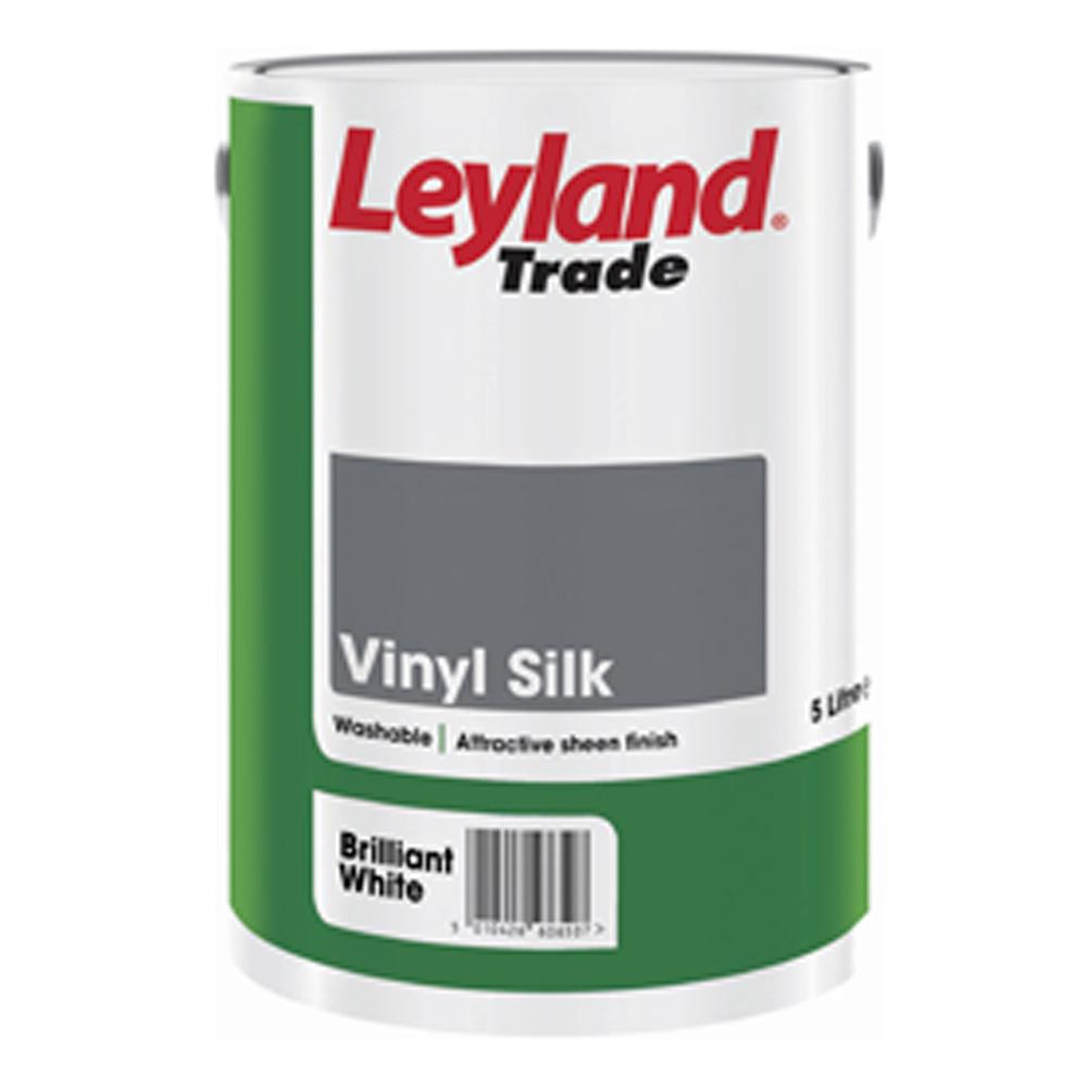 Leyland Vinyl Silk Brilliant White 5ltrs Ref 264850
