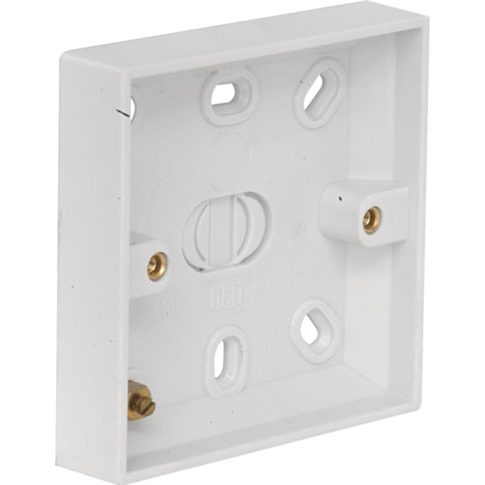 Light Switch Pattress Box 16mm Plastic Ref 1220