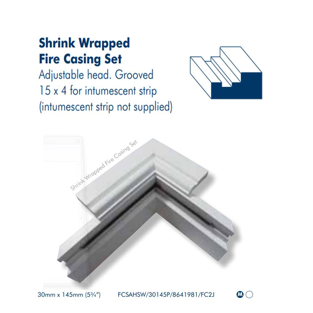 MDF Fire Door Casing Set Adjustable Head 30mm Thick X 145mm Width [FSC]