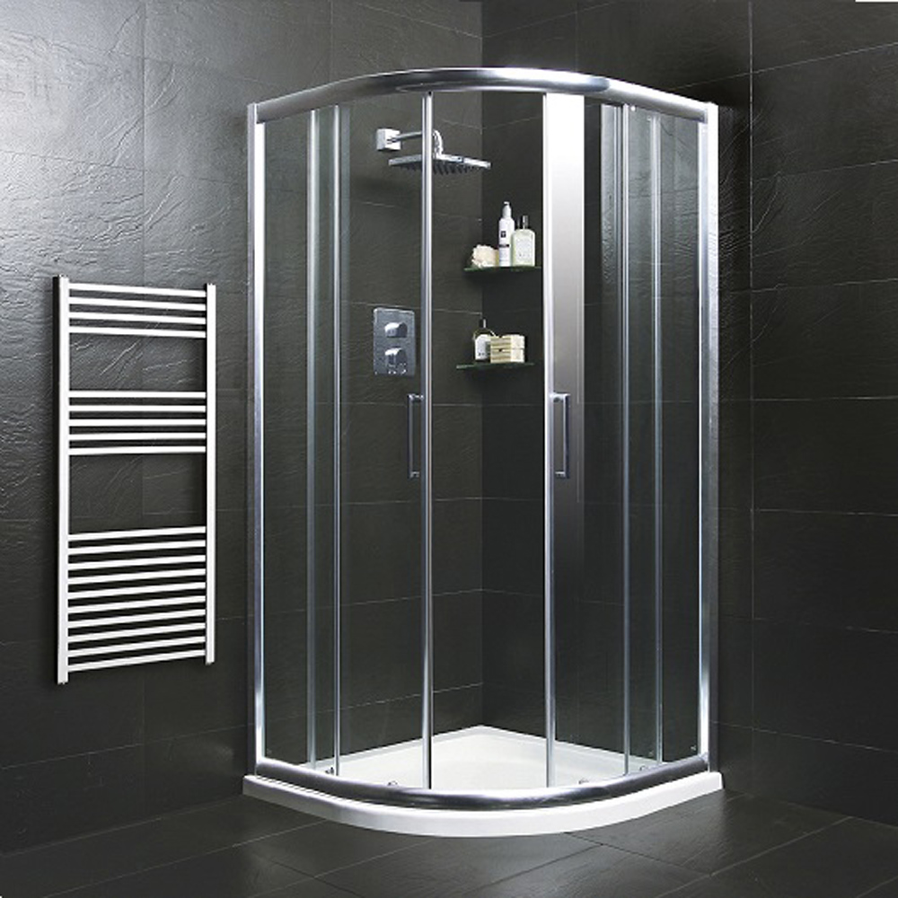 Moods 900mm Quadrant Shower Enclosure Silver / Clear Ref Promo ESE020