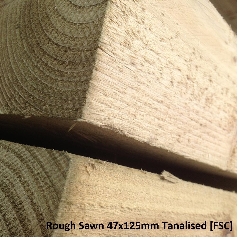 Rough Sawn 47x125mm Tanalised F