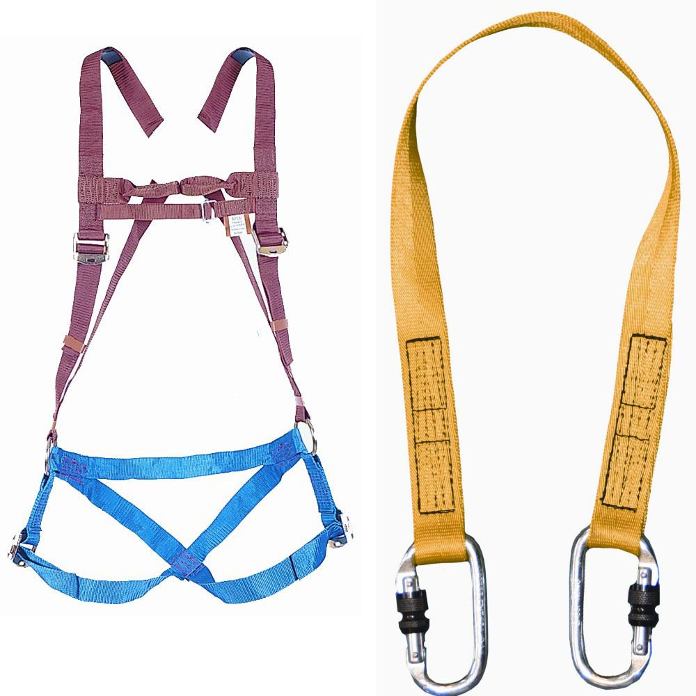 Safety Harness Complete With 1m Fixed Lanyard Ref Har100