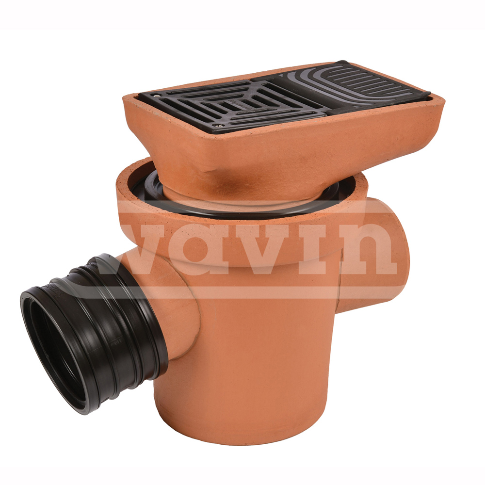 Supersleve Inlet Gully 100mm C W Grid And Horizontal Back