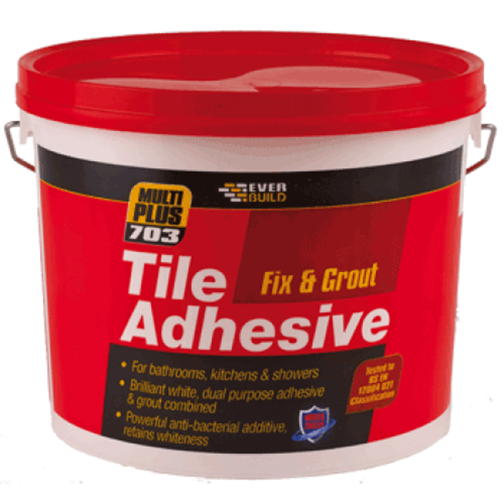 Bathroom Tile Adhesive And Grout: Fix And Grout Tile Adhesive 2.5ltr