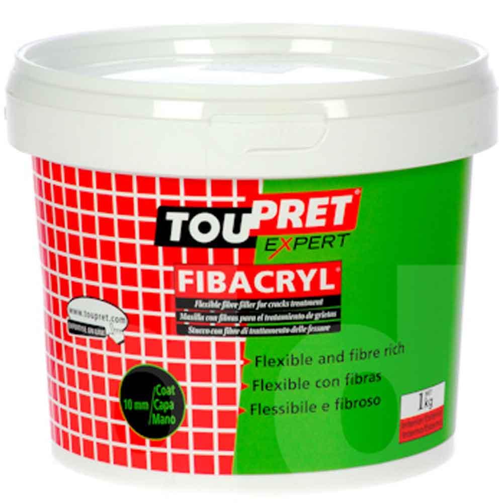 Toupret Fibacryl Exterior Crack Flexible Filler 1kg Ref T31