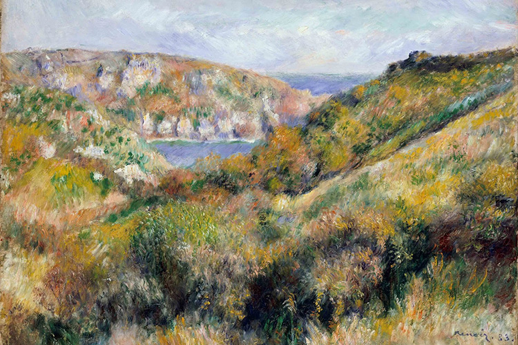 1883-Hills-around-the-Bay-of-Moulin-Huet,-Guernsey-oil-on-canvas-46-x-65.4-cm-The-Metropolitan-Museum-of-Art,-New-York_Bella_Luce_post.jpg