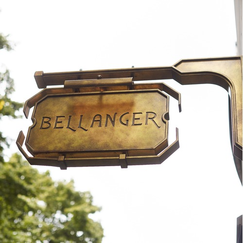 The Sign Outside the Bellanger in Islington