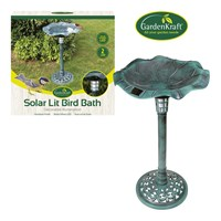 Solar Lit Bird Bath