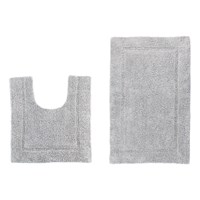 2 Piece Bath Mat Set - Grey