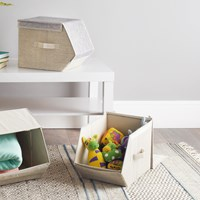2 pack Small Magnetic Storage Box - Grey