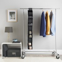 10 Shelf Wardrobe Organiser - Black