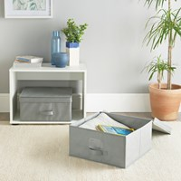 2 Pack Storage Box - Grey