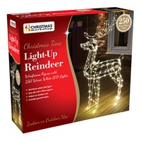 250 LED Light Up Reindeer - 115cm Tall