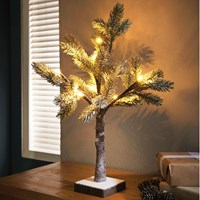 50cm LED Christmas Tree with Snow