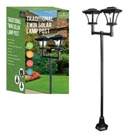 Twin Head Decorative Solar Lamp Post