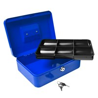 "10"" Blue Cash Box with 2 Keys"
