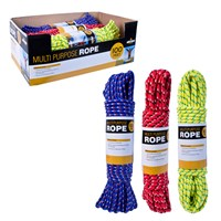 100Ft Multi-Purpose Rope - 3 Assorted Colours