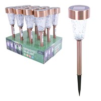 Copper Solar Stake LED Light