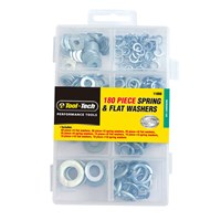 180pc Flat & Spring Washers