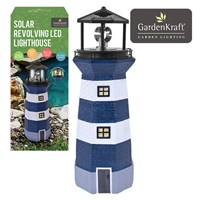 Solar Revolving LED Lighthouse - 40cm