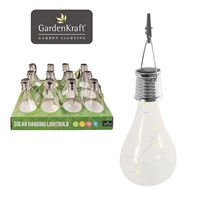Solar Hanging Glass Bulb Light With Hook & Clip