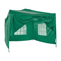 3x3m Pop-up Gazebo Side - Green - Plain Side
