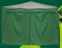 3x3m Pop-up Gazebo Side - Green - Zip Side