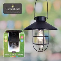 Nautical Solar Lantern - Black