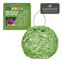 Apple Green Rattan Solar Lantern