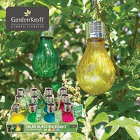 Solar Micro LED Glass Light Bulb-4 Assorted Colour