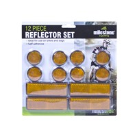 12pc Adhesive Reflector Set