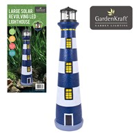 Solar Revolving LED Lighthouse - 75cm